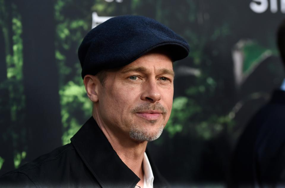 """Brad Pitt arrives at the Los Angeles premiere of """"The Lost City of Z"""" at the ArcLight Hollywood on Wednesday, April 5, 2017."""