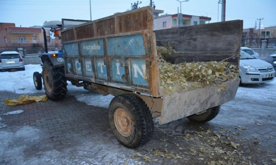 Tractor belonging to the Dargecit municipality which was used to transport ammunition to the PKK terror organisation.