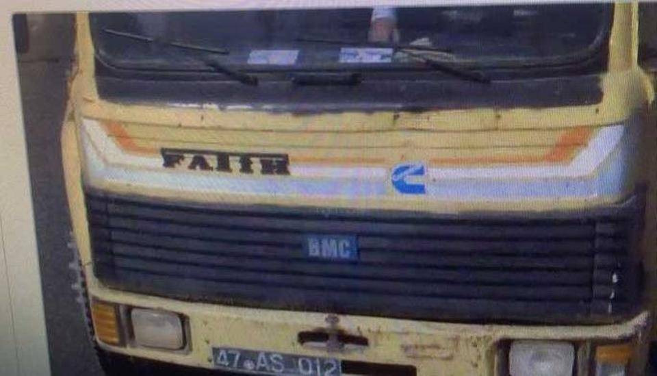 A file photo of the truck belonging to Mazidagi municipality that was used in a terror attack killing 3 people and wounding 38 others.