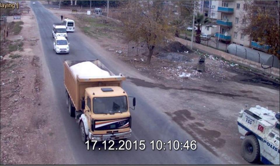 The truck used by PKK terrorists in Mardin.