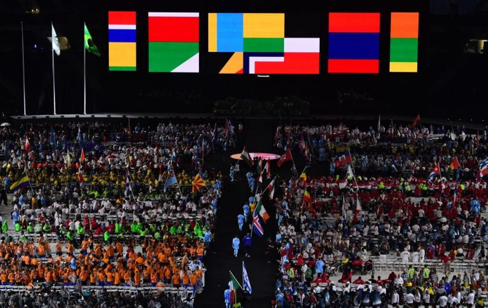 View of the closing ceremony of the Paralympic Games at Maracana Stadium in Rio de Janeiro, Brazil, on September 18, 2016.