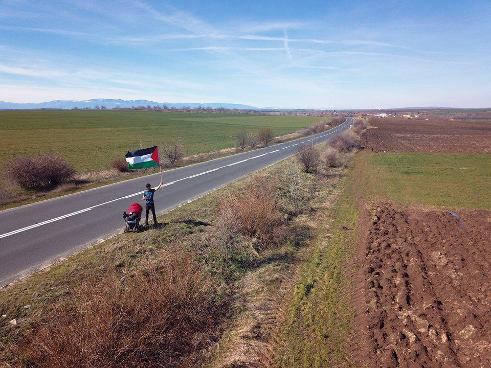 Benjamin Ladraa is walking from Sweden across Europe all the way to Palestine to raise awareness of the Israeli occupation of Palestine.