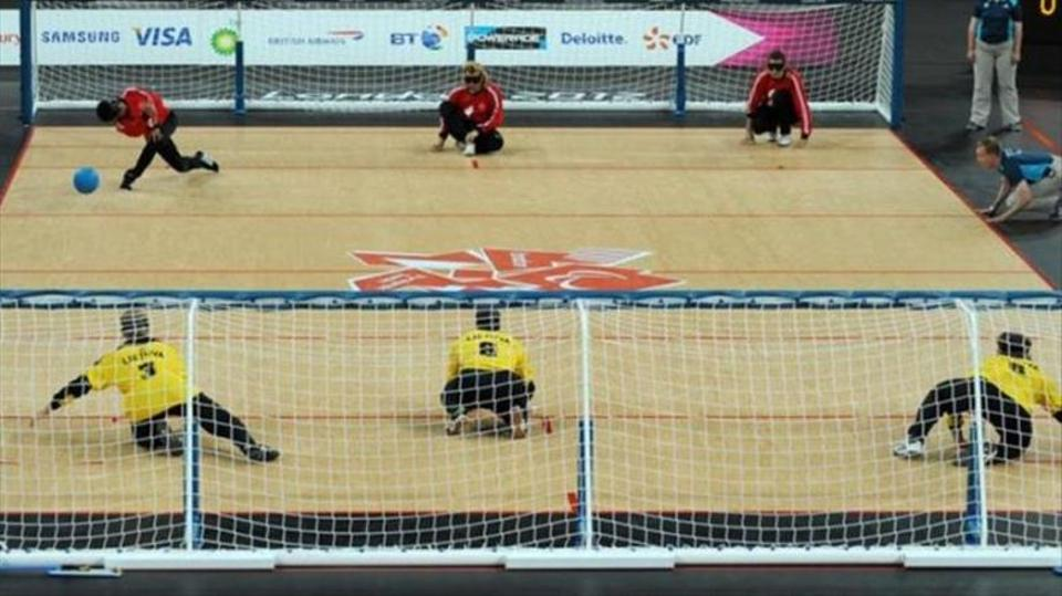 Turkish handball team playing against China in Rio Paralympic Games.