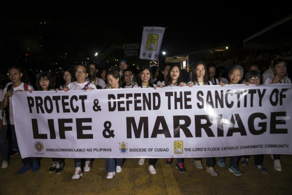 Philippine Catholic faithful held a 'Walk for Life' protest in Manila last month.