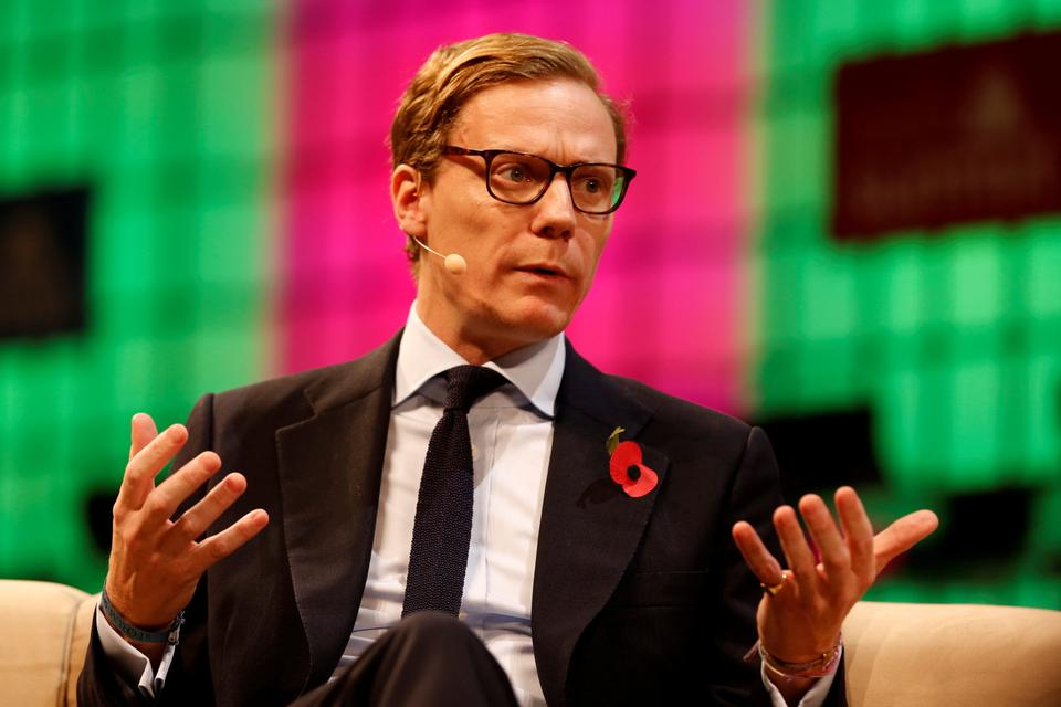 Cambridge Analytica's chief executive Alexander Nix was secretly filmed by Britain's Channel 4 News saying it could entrap politicians in compromising situations with bribes and sex workers, using ex-spies to dig up dirt on opponents.