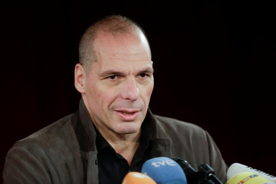 Former Greek finance minister Yanis Varoufakis attends a news conference about the launch of a new left-wing pan-Europe political movement called 'Democracy in Europe Movement 2025' in Berlin, Germany, Tuesday, Feb. 9, 2016.