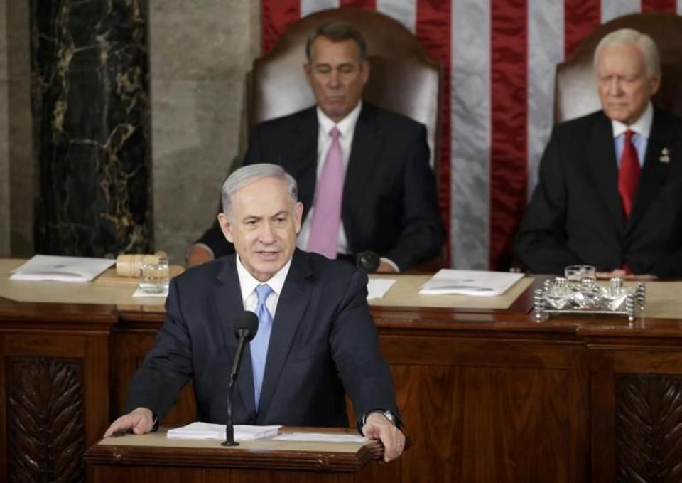 Israel's Netanyahu give a speech over Iran to US Congress.