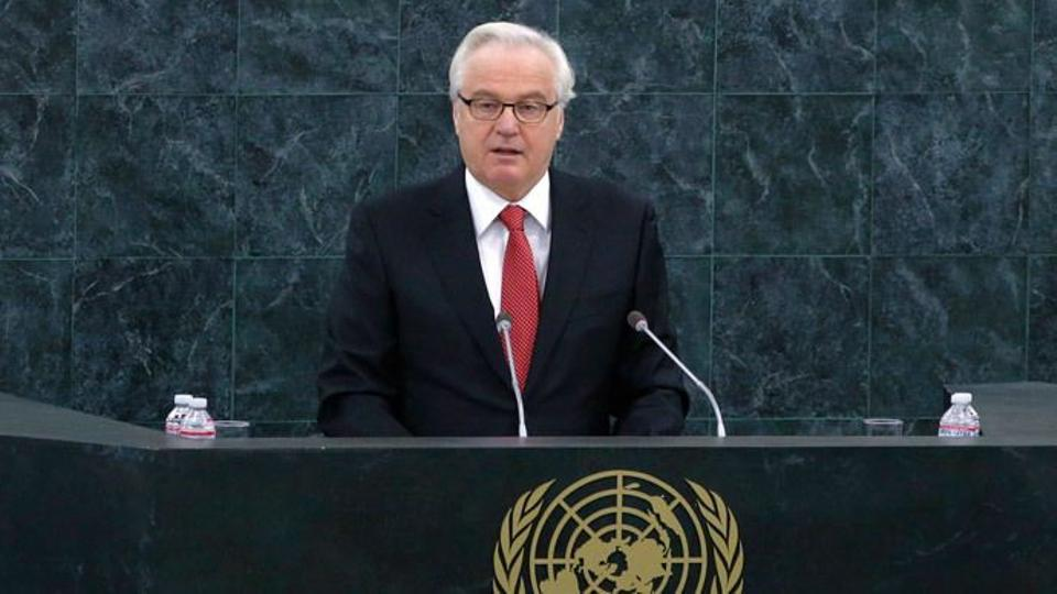 Russia's Ambassador to the U.N. Vitaly Churkin.