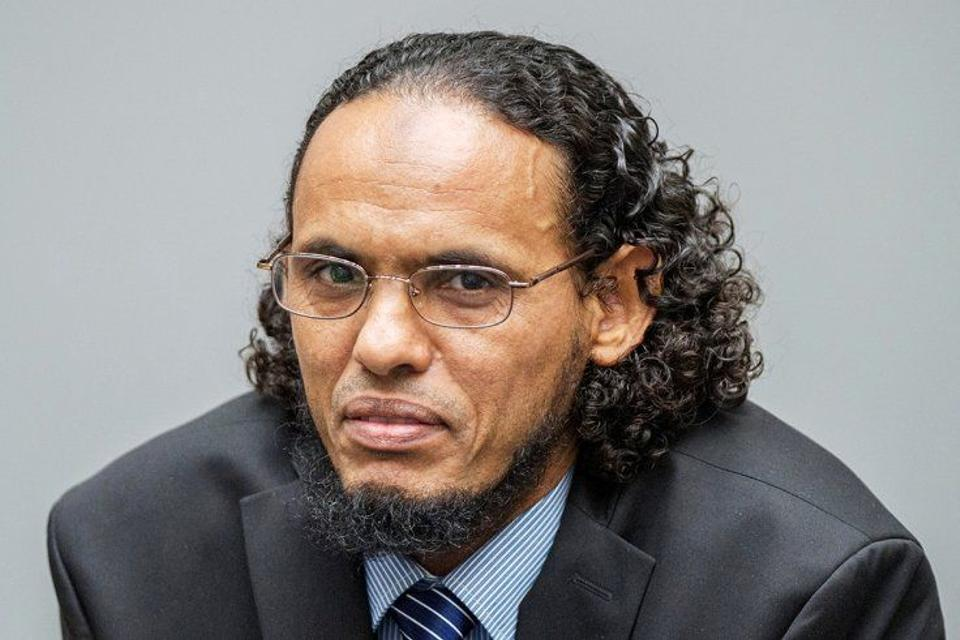 Ahmad al-Faqi al-Mahdi appears at the International Criminal Court in The Hague, Netherlands, August 22,2016.