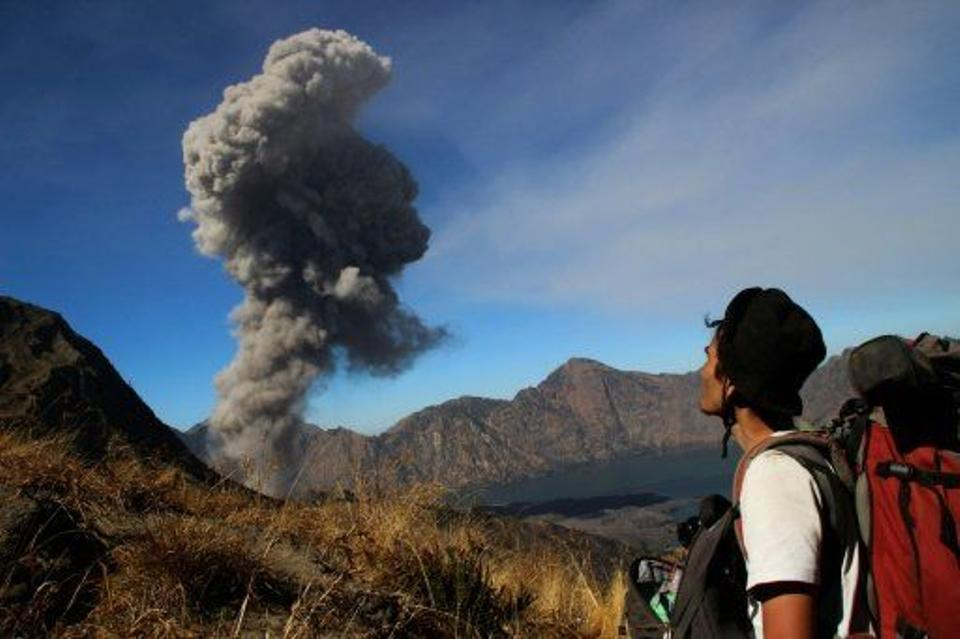 Mount Barujari on Lombok Island erupted without warning on Tuesday. Islands part of Indonesia are prone to volcanic eruptions because of their location on the Ring of Fire, an area of seismic activity on the basin of the Pacific Ocean. [AFP Archive]