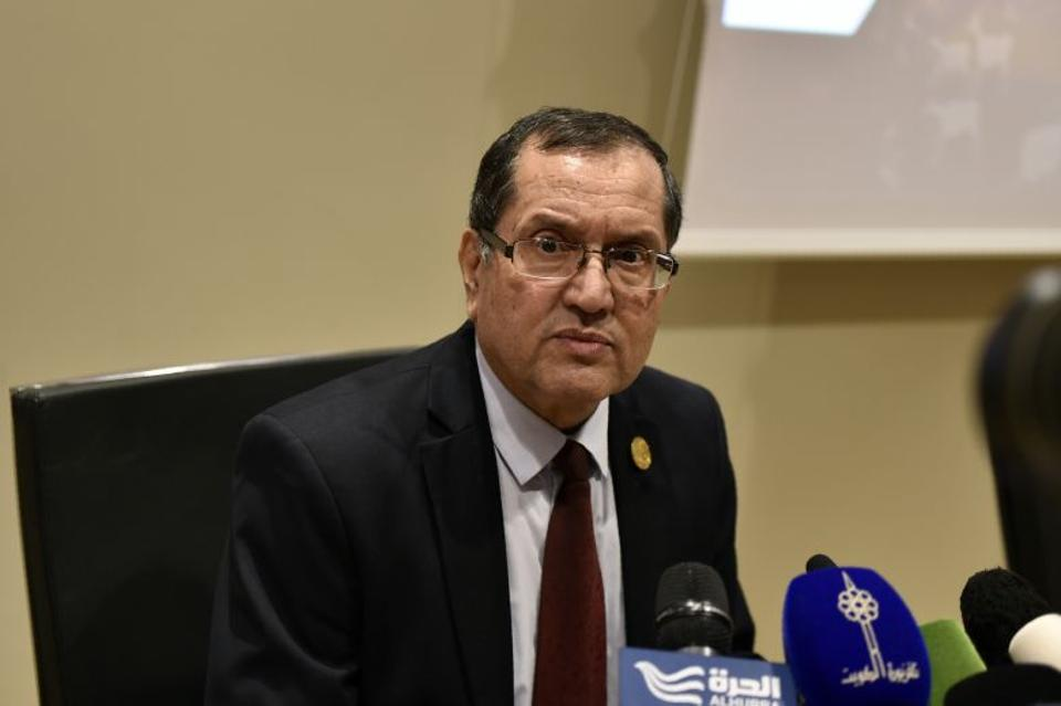 Algerian Energy Minister Noureddine Boutarfa attends an informal meeting between members of the Organization of Petroleum Exporting Countries, OPEC, in the Algerian capital Algiers, on September 28, 2016.