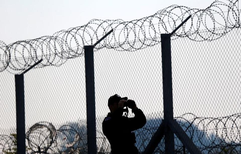 Hungary built razor-wire fences on its border with Serbia and Croatia.