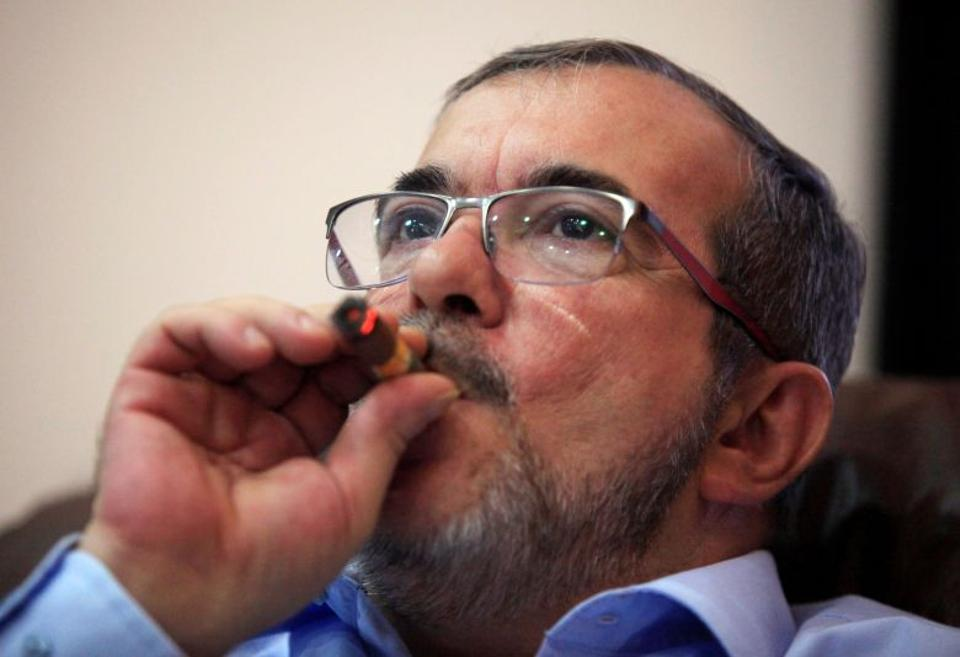 The FARC rebel leader Rodrigo Londono, known by the nickname Timochenko, said the guerrilla group would