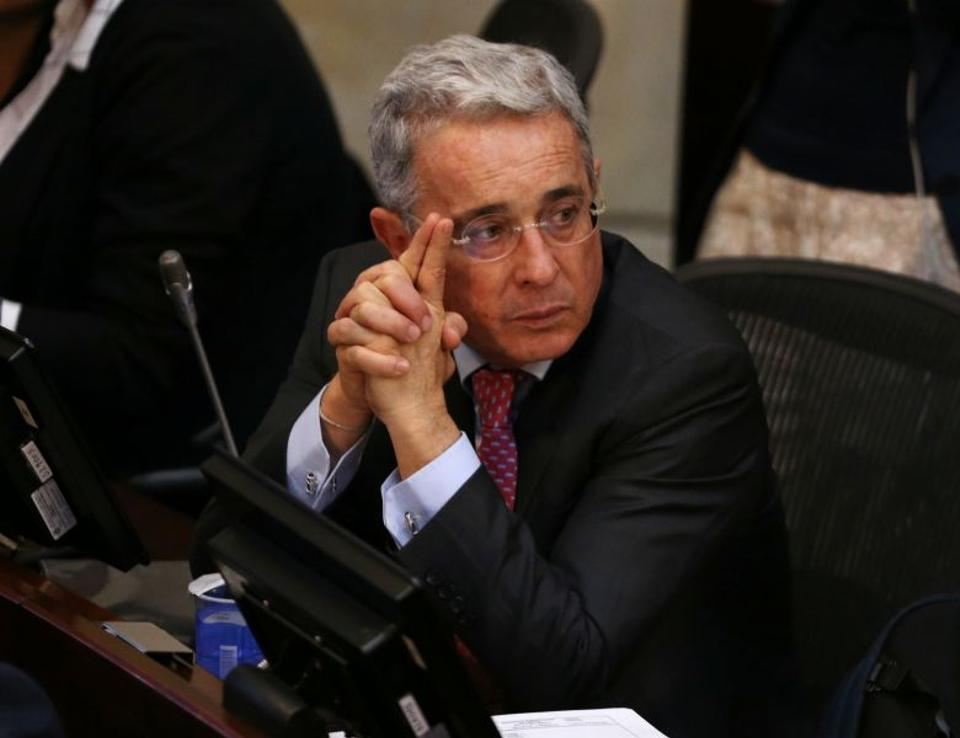 Senator Alvaro Uribe, Colombia's former president,has said his Democratic Center Party will not sit down to negotiate with the FARC.