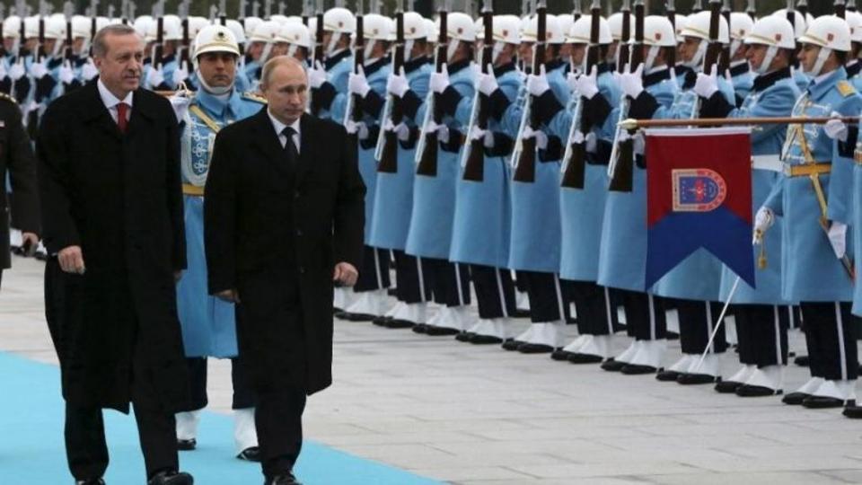 Turkish President Recep Tayyip Erdogan meeting Russian President Vladimir Putin in Ankara in 2014 before relations took a bad turn.