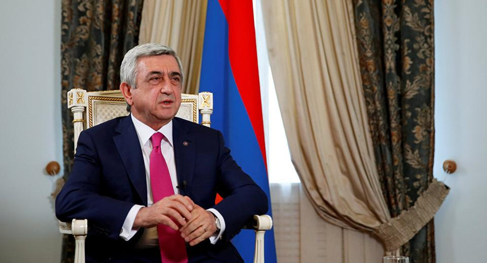 Earlier on Monday pressure on Sargsyan to quit increased sharply when unarmed Armenian soldiers joined the anti-government protests in the capital Yerevan.