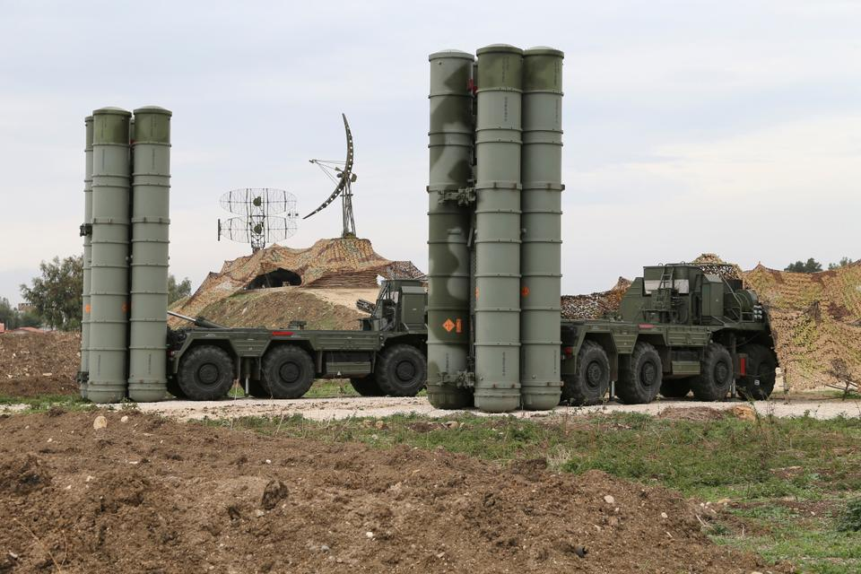 In this file photo taken on December 16, 2015 and provided by the Russian Defense Ministry Press Service, Russian S-400 long-range air defense missile systems are deployed at Khmeimim air base in Syria. Russia's defense ministry said on Tuesday, March 15, 2016.