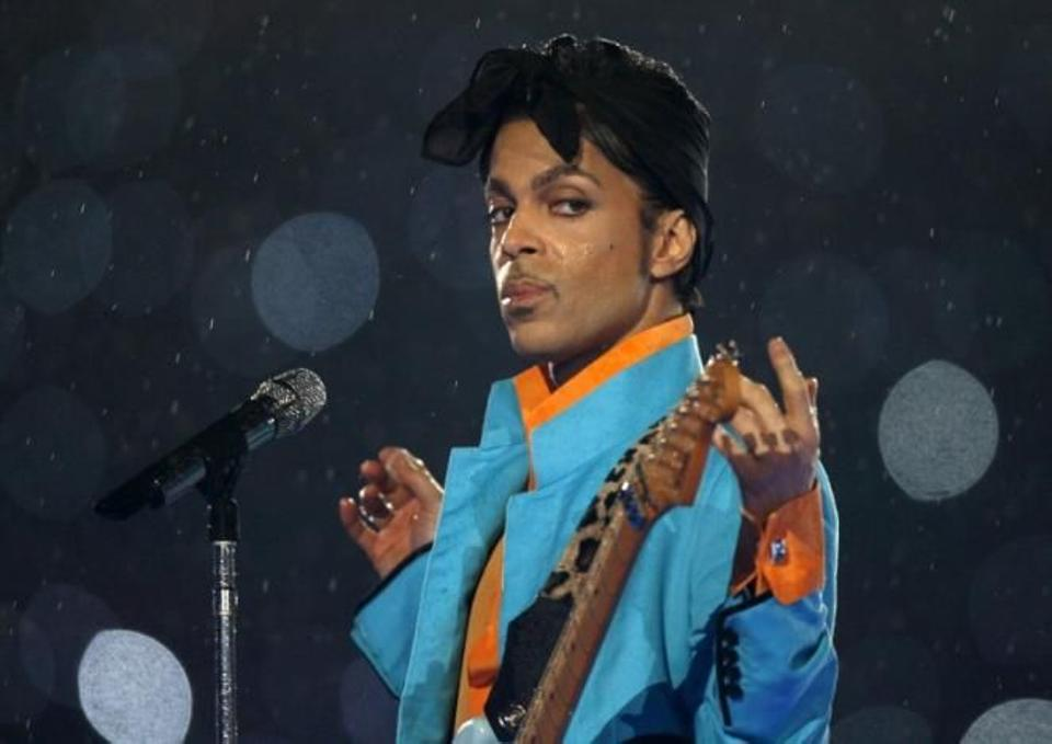 Prince performs during the halftime show of the NFL's Super Bowl XLI football game between the Chicago Bears and the Indianapolis Colts in Miami, Florida, US February 4, 2007.