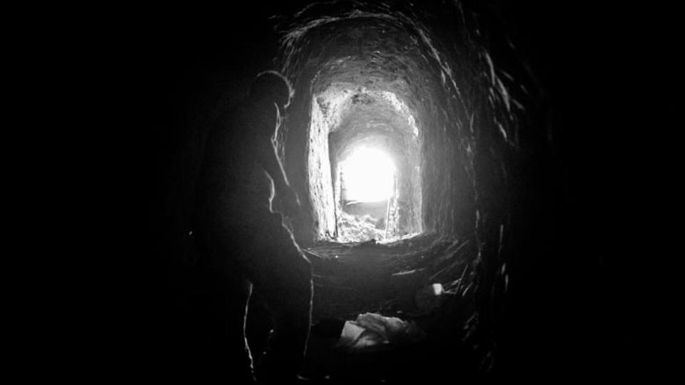 Daesh burrowed a labyrinth of tunnels stretching from the church to the outskirts of the village.