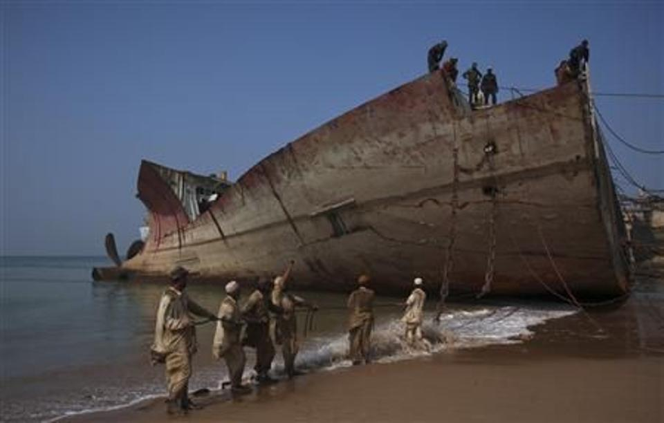 The Gaddani ship-breaking industry has fallen on hard times recently and employs about 9,000 workers, fewer than in boom years at the end of the last decade. (Reuters Archive)