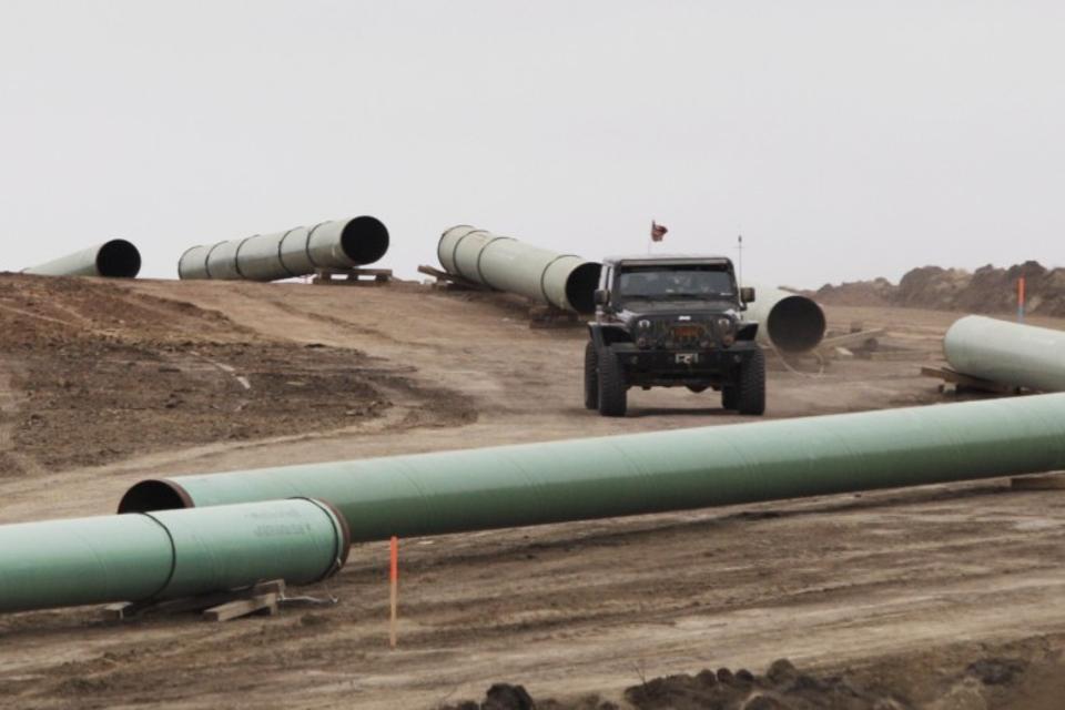 Dakota Access Construction site near the town of Cannon Ball, North Dakota, US on October 30, 2016. (Reuters)