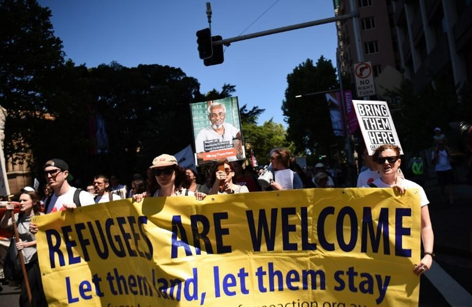 On Saturday, over 3,000 people marched down Swanton Street in Melbourne holding signs and chanting