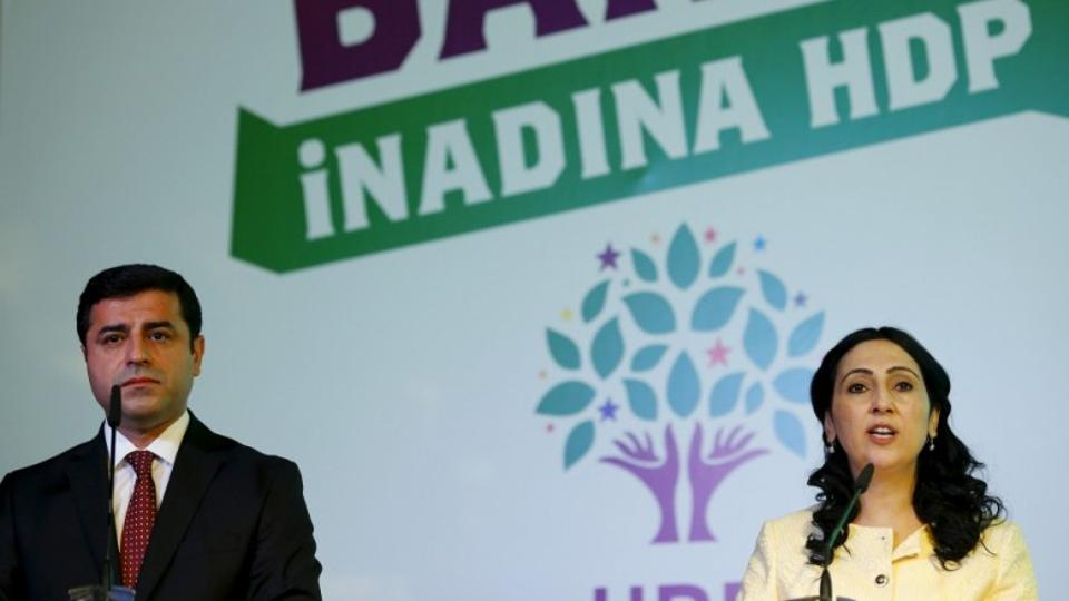 Peoples' Democratic Party (HDP) co-chairs Figen Yuksekdag and Selahattin Demirtas and parliamentary leader Idris Baluken were among the 12 lawmakers arrested by the police for failing to answer summons linked to a terrorism probe. Photo: Reuters