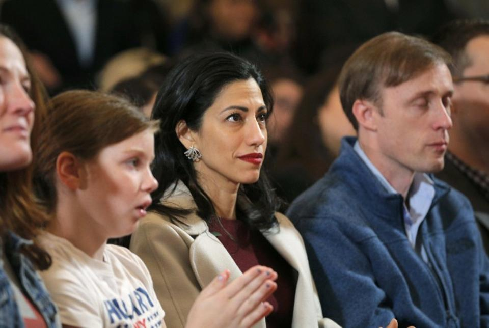 Huma Abedin has worked closely with Hillary Clinton for years, first serving as a White House intern in 1996. She placed the call to Donald Trump before handing Clinton the phone who then conceded defeat. Abedin sat front row during Clinton's speech.