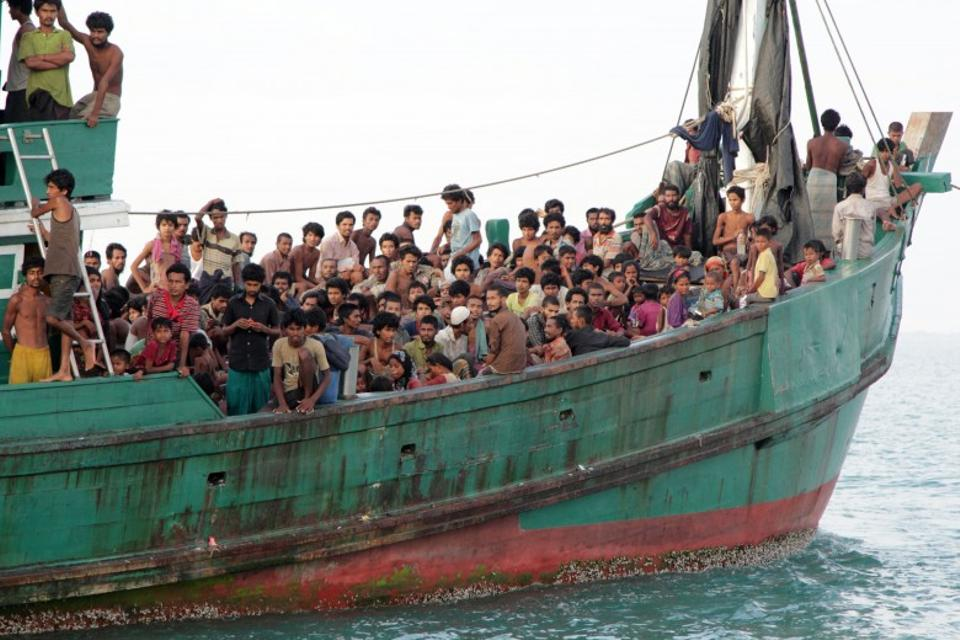 An estimated 140,000 Rohingya Muslims were displaced within Myanmar and almost 86,000 others have made dangerous journeys into neighboring countries. (AP Archive)
