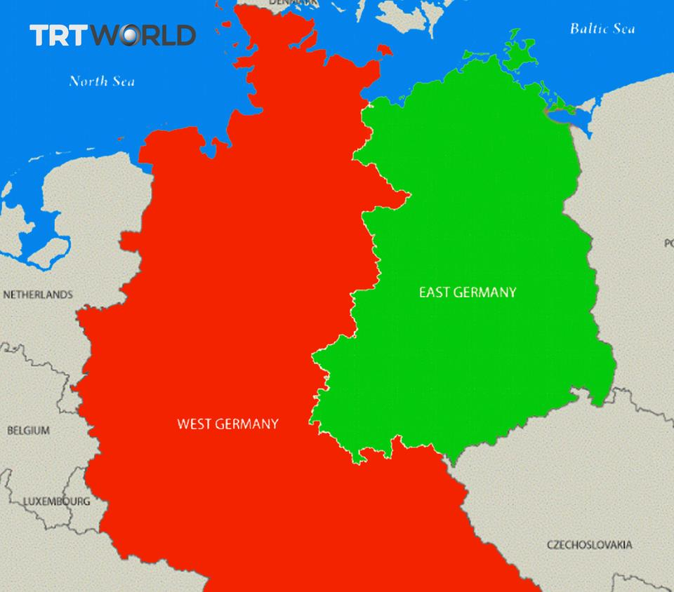 east and west germany map