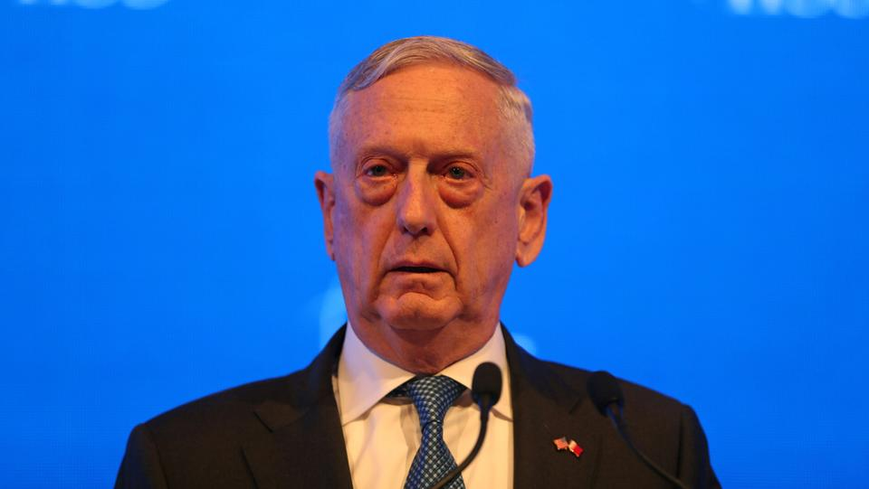 US Defense Secretary James Mattis speaks during the second day of the 14th Manama dialogue, Security Summit in Manama, Bahrain on October 27, 2018.