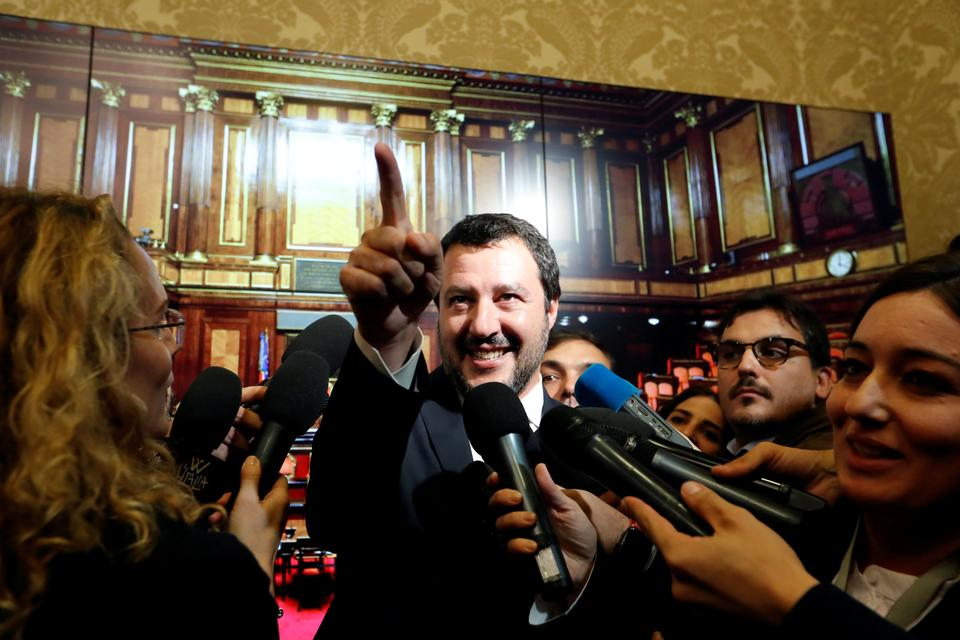Italy's Deputy Prime Minister Matteo Salvini says the government's fiscal targets were valid and indicated he would not negotiate over them.