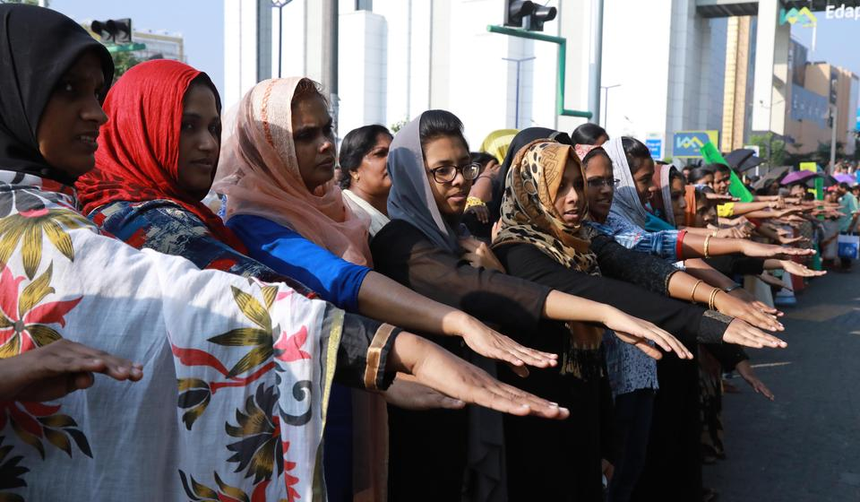 Women taking part in the