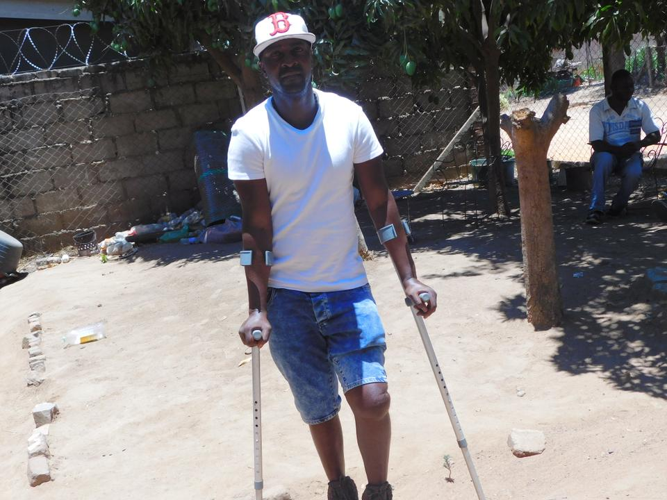 Ngoni Tinarwo is one of the recent victims of machete attacks carried out by the illegal mining mafia.