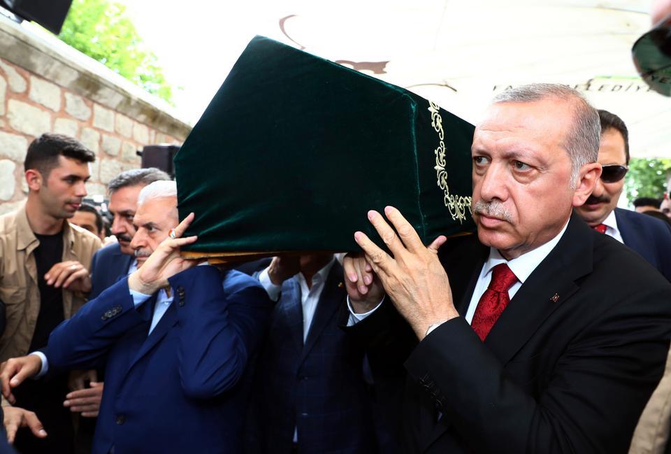 Top Turkish leadership including President Recep Tayyip Erdogan attended Sezgin's funeral.
