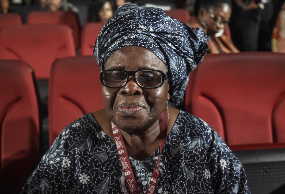 Renowned Ghanaian author, poet, playwright and academic Ama Ata Aidoo is pictured during the Ake Arts and Book festival in Abeokuta, southwest Nigeria, on November 17, 2017.