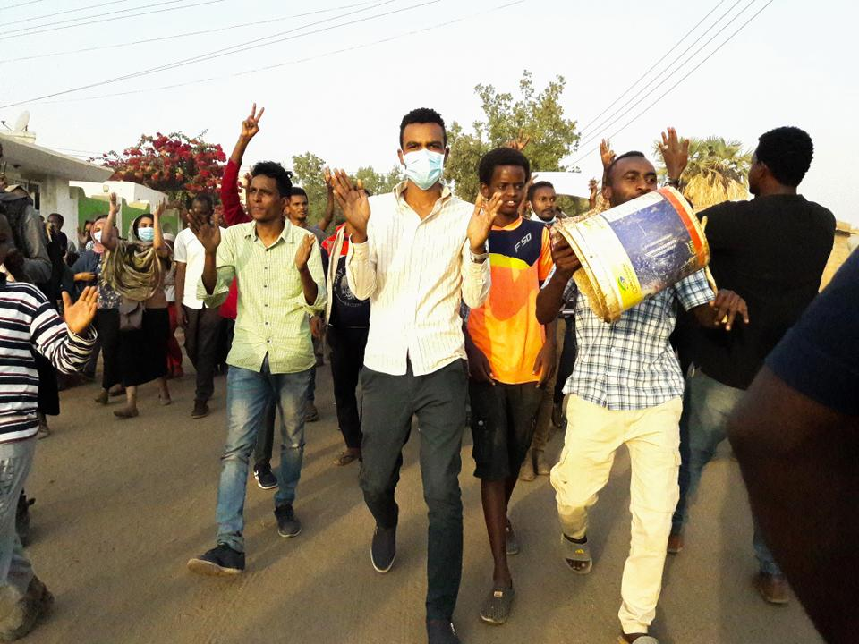 Sudanese protesters take part in an anti-government demonstration in the capital Khartoum's twin city of Omdurman on January 29, 2019.