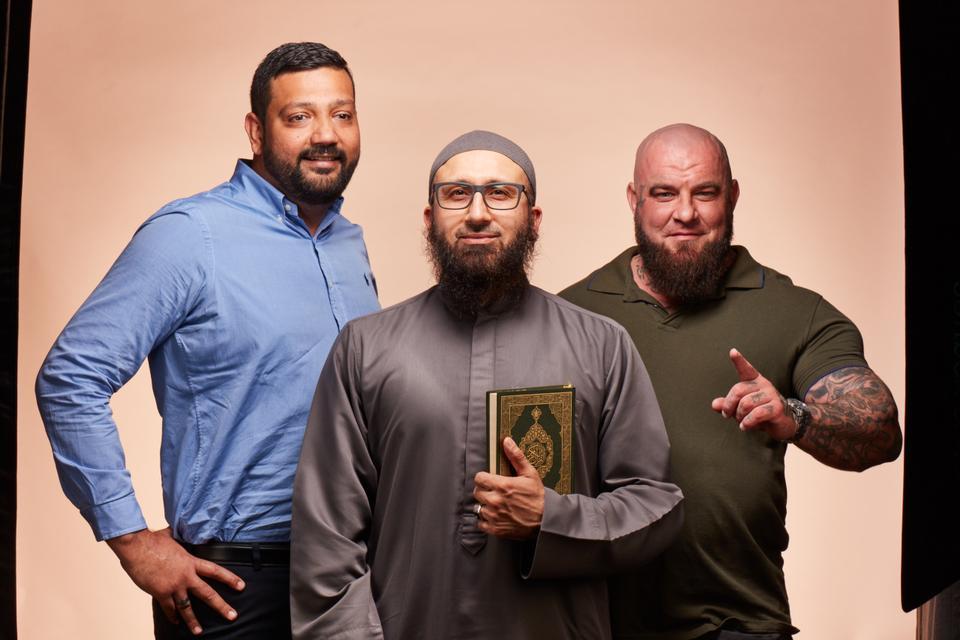 Ali Kadri (L) Imam Uzair (middle) and Robbie Maestracci (R).