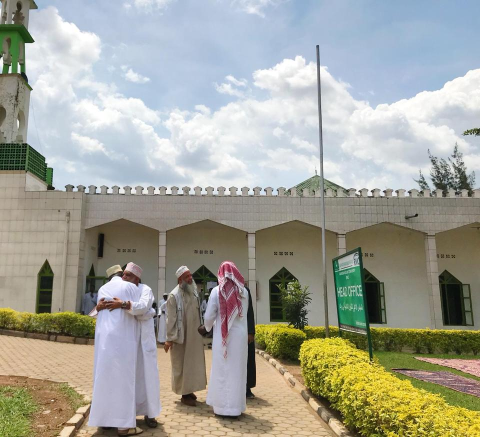 Muslims are gathering after the Jumaa prayer in Masjid Al Quds in Kigali, Rwanda, 22 March 2019.