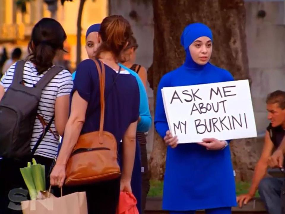 Zeynad Alshelh,  wanted to challenge preconceptions about women who wear the burkini. The medical student from Sydney decided to fly to the country after she became angry at 30 French towns banning the modesty swimwear in the wake of several terror attacks.