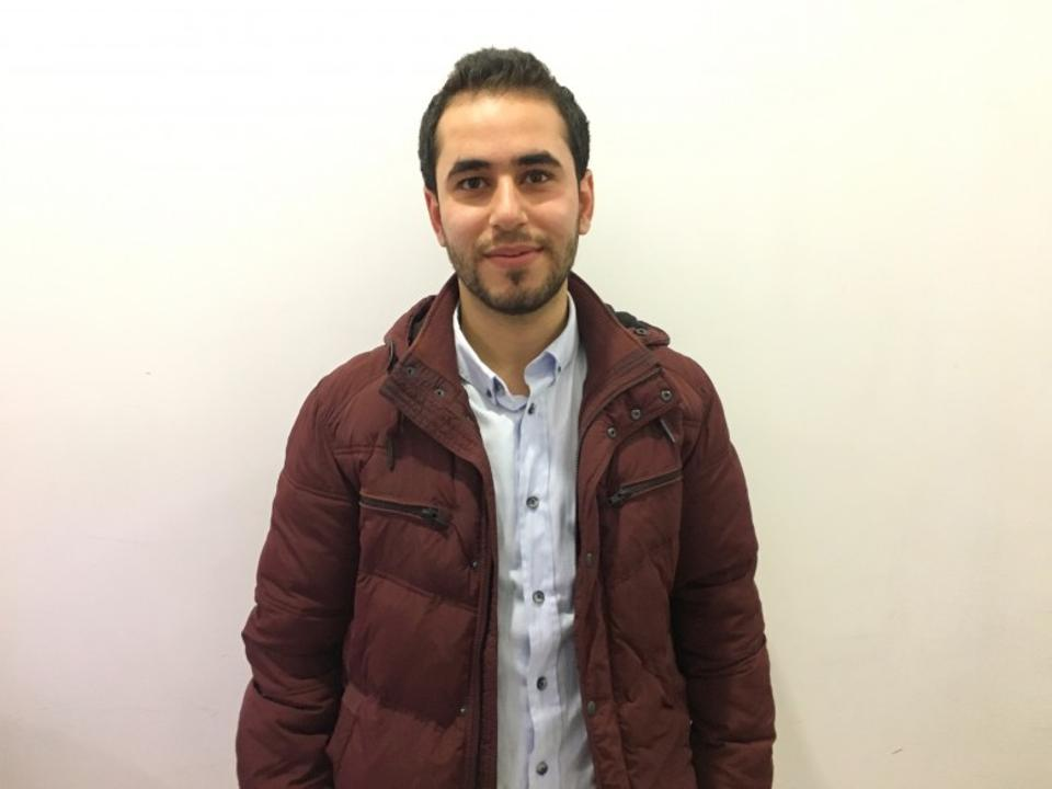 23-year-old filmmaker Fadi Khateib from Aleppo is proud of the Oscar win and hopes more attention will be paid to Syria. (Mohamed Taha)