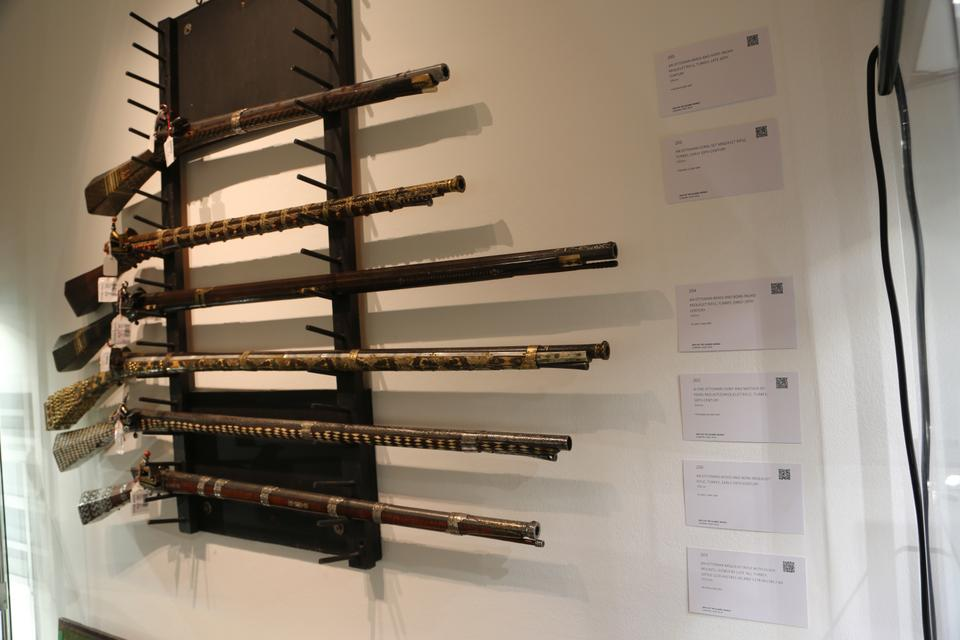 Rifles from 18th and 19th centuries belonging to the Ottoman Empire.