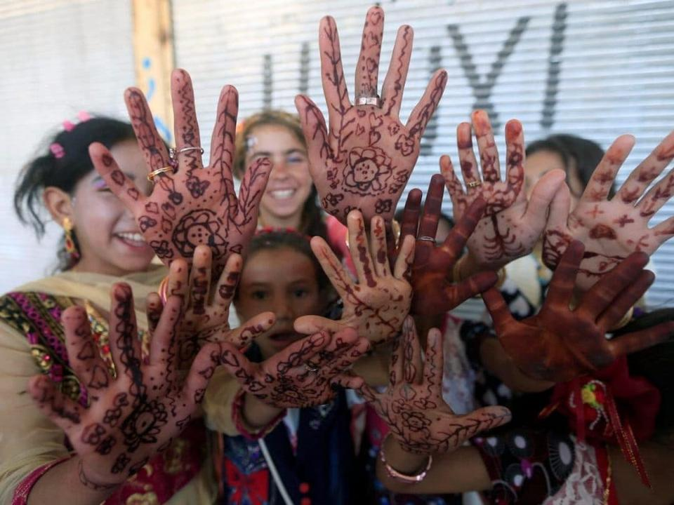Children celebrating Eid in Mosul, Iraq