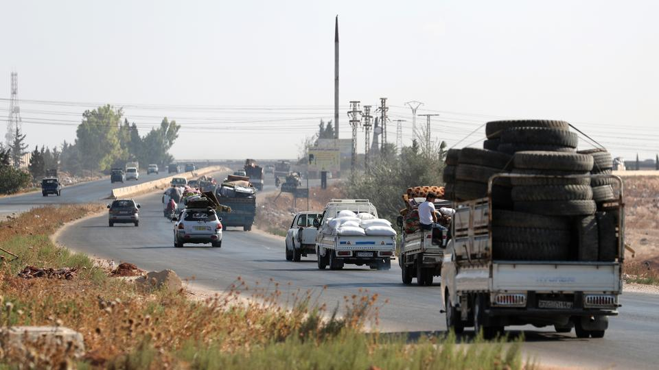After the Assad's offensive in the Idlib province, the last opposition stronghold, civilians move into safe areas in northwestern Syria on August 21, 2019.