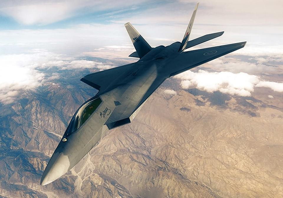 A digital rendering of the Turkish Experimental Fighter (TF-X) by Turkish Aerospace Industries.