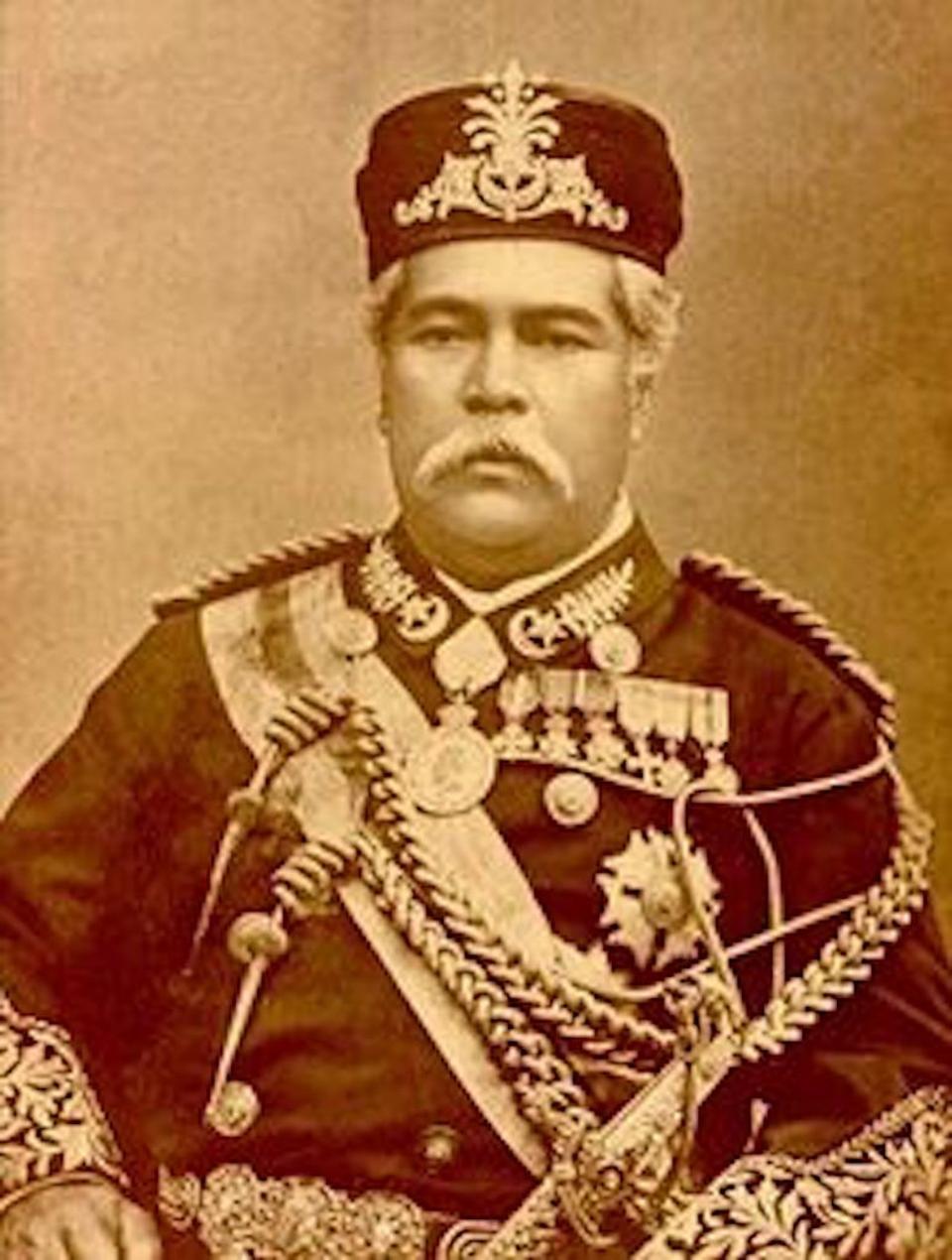 Sultan Abu Bakar of Johor, first sultan of modern-day Johor.