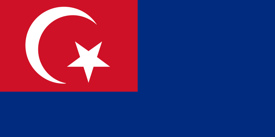 Flag and coat of arms of Johor Sultanate, which shares similarities with the Ottoman flag.