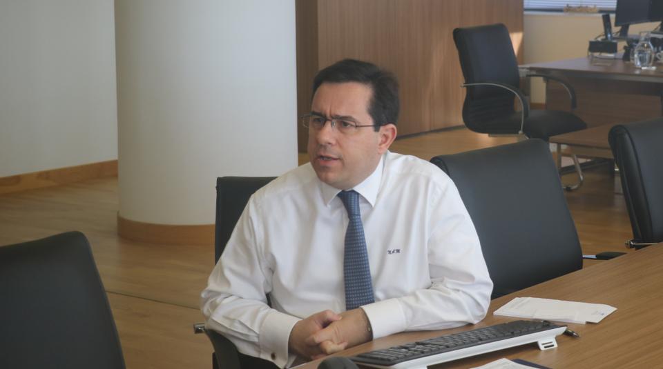 Yunanistan Göç Bakanı Notis Mitarachi 17 Haziran 2020'de sanal bir toplantı düzenliyor.