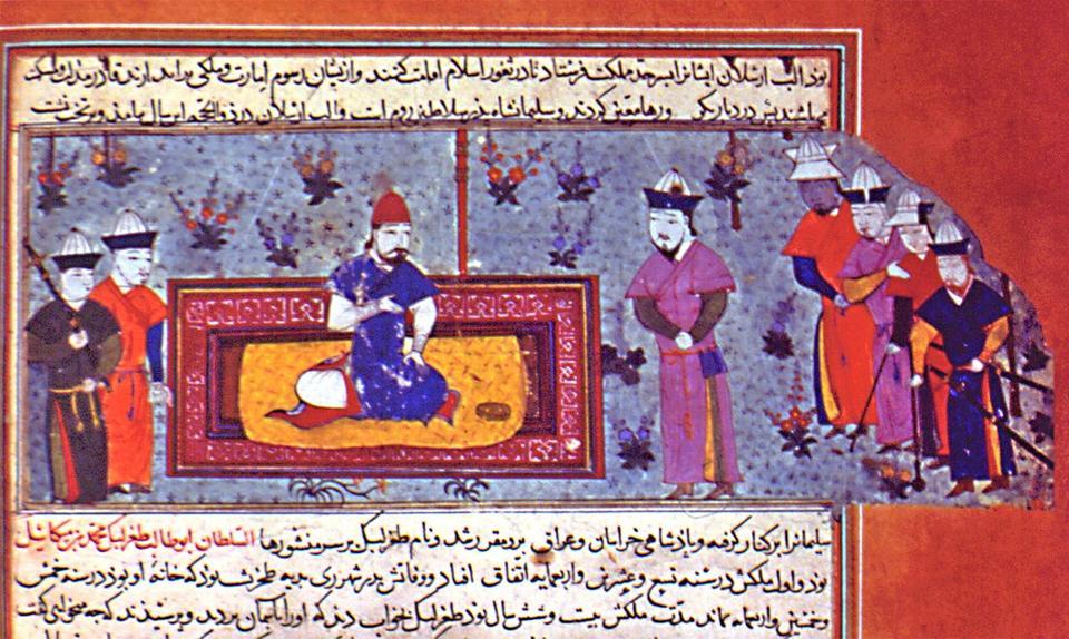 A miniature depicting Alp Arslan, located in Topkapı Palace Museum.