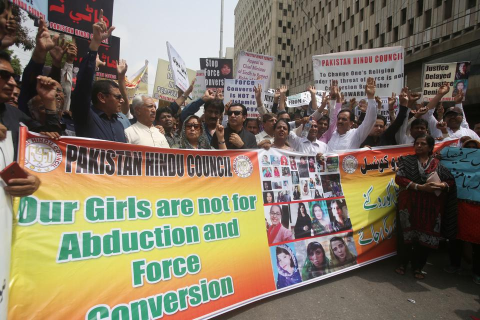 The Christians and Hindus in Pakistan regularly complain that young girls are forced to convert to Islam.